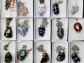 wired gemstone necklaces