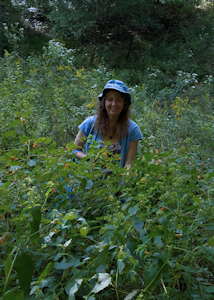 Karen Picking for Amazing Jewelweed Soap, Salve and Spray